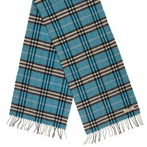 TWO DAY SALE BURBERRY BLUE FRINGE SCARF